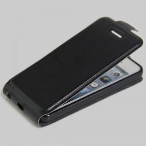 Чехол вертикальная книжка на силиконовой основе с отсеком для карт на магнитной защелке для Iphone 5/5s/SE