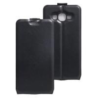 Чехол вертикальная книжка на силиконовой основе с отсеком для карт на магнитной защелке для Samsung Galaxy J2 Prime Черный