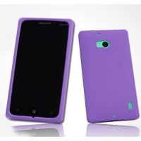 Силиконовый софт-тач премиум чехол для Nokia Lumia 930 Фиолетовый