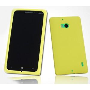 Силиконовый софт-тач премиум чехол для Nokia Lumia 930 Желтый