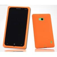 Силиконовый софт-тач премиум чехол для Nokia Lumia 930 Оранжевый