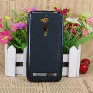 Силиконовый матовый полупрозрачный чехол для ASUS ZenFone Go ZB500KL/ZB500KG Черный