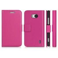 Чехол портмоне подставка с защелкой для Nokia Lumia 930 Розовый