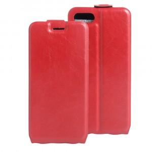 Чехол вертикальная книжка на силиконовой основе с отсеком для карт на магнитной защелке для Iphone 7/8 Красный