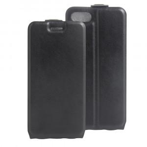 Чехол вертикальная книжка на силиконовой основе с отсеком для карт на магнитной защелке для Iphone 7/8 Черный