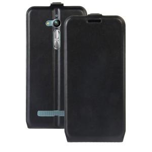 Чехол вертикальная книжка на силиконовой основе с отсеком для карт на магнитной защелке для ASUS ZenFone Go ZB500KL/ZB500KG