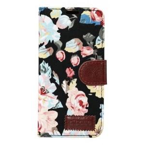 Чехол горизонтальная книжка подставка на силиконовой основе с отсеком для карт, полноповерхностным принтом и тканевым покрытием на магнитной защелке для Samsung Galaxy S8 Plus
