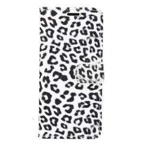 Чехол горизонтальная книжка подставка текстура Леопард на пластиковой нескользящей премиум основе с отсеком для карт на магнитной защелке для Samsung Galaxy S8 Plus