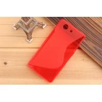 Силиконовый S чехол для Sony Xperia Z3 Compact Красный