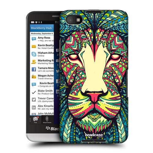 Пластиковый дизайнерский чехол принт Animals для Blackberry Z30 Лев