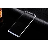Полноэкранное ультратонкое износоустойчивое сколостойкое олеофобное защитное стекло-пленка для Samsung Galaxy S8 Серый