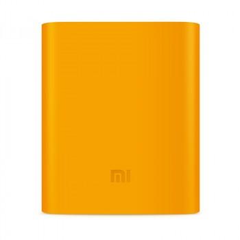Силиконовый противоударный чехол для портативного зарядного устройства Xiaomi 10400 mAh Оранжевый