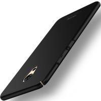 Пластиковый непрозрачный матовый чехол с допзащитой торцев для Meizu Pro 6 Plus Черный