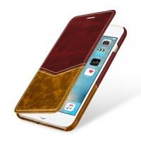 Кожаный чехол горизонтальная книжка (2 вида премиум нат. кожи) для Iphone 7 Plus