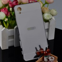 Двухкомпонентный чехол c металлическим бампером с поликарбонатной накладкой и зеркальным покрытием для Sony Xperia XA Черный