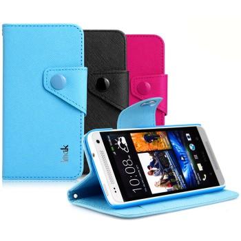 Чехол портмоне с кнопочной застежкой для HTC One Mini