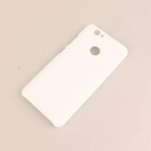 Пластиковый непрозрачный матовый чехол для Huawei Nova Белый