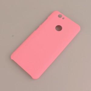 Пластиковый непрозрачный матовый чехол для Huawei Nova Розовый