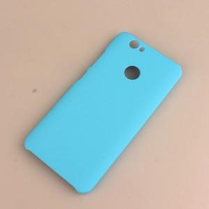 Пластиковый непрозрачный матовый чехол для Huawei Nova Голубой