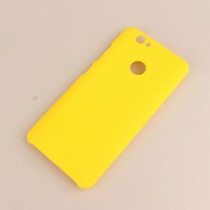 Пластиковый непрозрачный матовый чехол для Huawei Nova Желтый