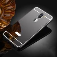 Двухкомпонентный чехол c металлическим бампером с поликарбонатной накладкой и зеркальным покрытием для Xiaomi Mi5S Plus Черный