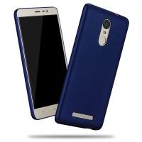 Пластиковый матовый металлик чехол для Xiaomi RedMi Note 3 Синий