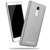 Пластиковый матовый металлик чехол для Xiaomi RedMi Note 3 Серый