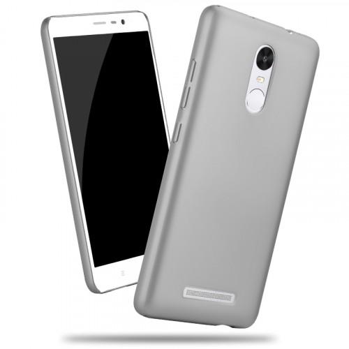 Пластиковый матовый металлик чехол для Xiaomi RedMi Note 3 Бежевый