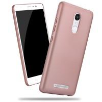 Пластиковый матовый металлик чехол для Xiaomi RedMi Note 3 Розовый