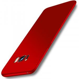 Силиконовый матовый непрозрачный чехол с нескользящим софт-тач покрытием для Samsung Galaxy S8 Plus