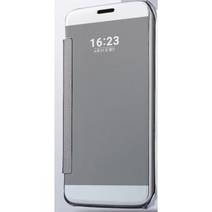 Пластиковый непрозрачный матовый металлик чехол с полупрозрачной крышкой с зеркальным покрытием для Samsung Galaxy J5 (2016) Белый