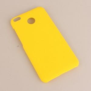 Пластиковый непрозрачный матовый чехол для Xiaomi RedMi 4X Желтый