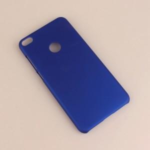 Пластиковый непрозрачный матовый чехол для Huawei Honor 8 Lite Синий