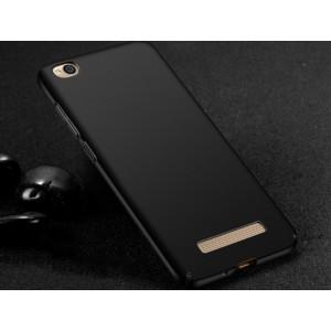 Пластиковый непрозрачный матовый чехол с улучшенной защитой элементов корпуса для Xiaomi RedMi 4A Черный