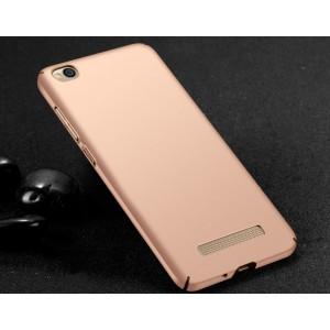 Пластиковый непрозрачный матовый чехол с улучшенной защитой элементов корпуса для Xiaomi RedMi 4A Розовый