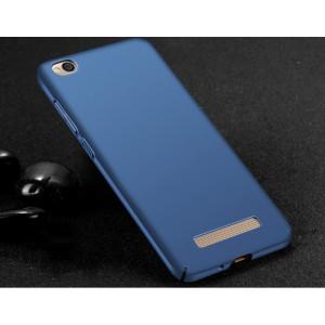 Пластиковый непрозрачный матовый чехол с улучшенной защитой элементов корпуса для Xiaomi RedMi 4A Синий