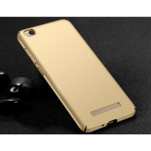 Пластиковый непрозрачный матовый чехол с улучшенной защитой элементов корпуса для Xiaomi RedMi 4A Бежевый