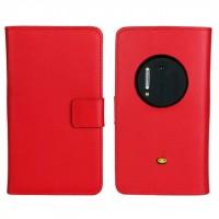Чехол портмоне подставка для Nokia Lumia 1020 Красный