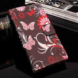 Чехол горизонтальная книжка подставка на силиконовой основе с отсеком для карт и полноповерхностным принтом на магнитной защелке для Xiaomi RedMi 4X
