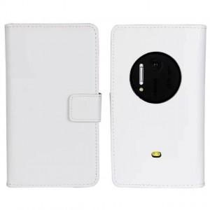 Чехол портмоне подставка для Nokia Lumia 1020 Белый