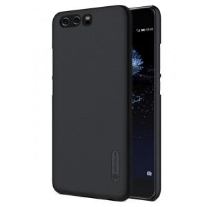 Пластиковый непрозрачный матовый нескользящий премиум чехол для Huawei P10