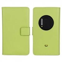Чехол портмоне подставка для Nokia Lumia 1020 Зеленый