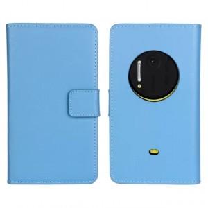 Чехол портмоне подставка для Nokia Lumia 1020 Голубой