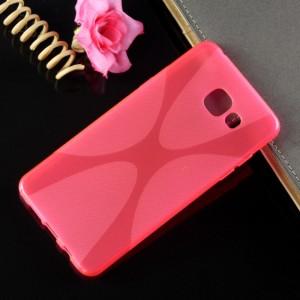 Силиконовый X чехол для Samsung Galaxy A5 (2016) Розовый