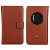 Чехол портмоне подставка для Nokia Lumia 1020 Коричневый