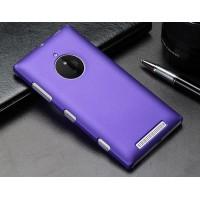 Пластиковый матовый металлик чехол для Nokia Lumia 830 Фиолетовый
