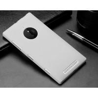 Пластиковый матовый металлик чехол для Nokia Lumia 830 Белый