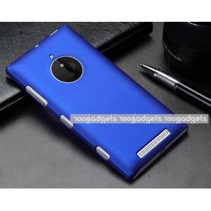 Пластиковый матовый металлик чехол для Nokia Lumia 830 Синий