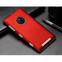 Пластиковый матовый металлик чехол для Nokia Lumia 830 Красный