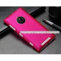 Пластиковый матовый металлик чехол для Nokia Lumia 830 Пурпурный